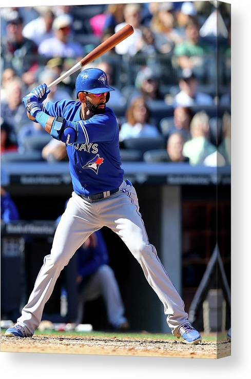People Canvas Print featuring the photograph Toronto Blue Jays V New York Yankees by Elsa