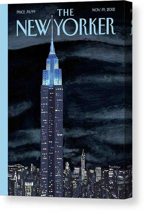 New York City Canvas Print featuring the painting New Yorker November 19th, 2012 by Mark Ulriksen