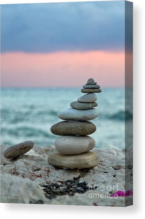 Abstract Canvas Print featuring the photograph Zen by Stelios Kleanthous