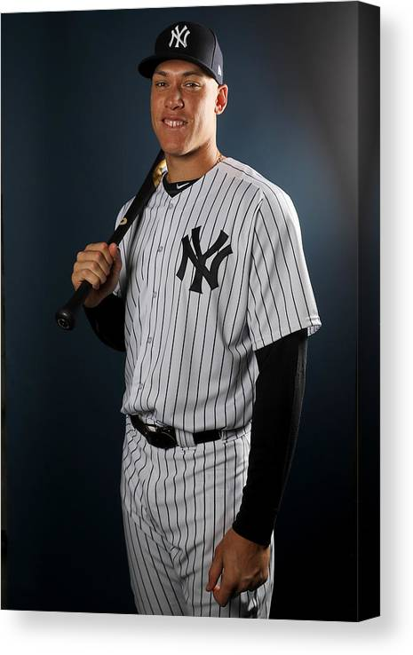 Media Day Canvas Print featuring the photograph New York Yankees Photo Day by Elsa