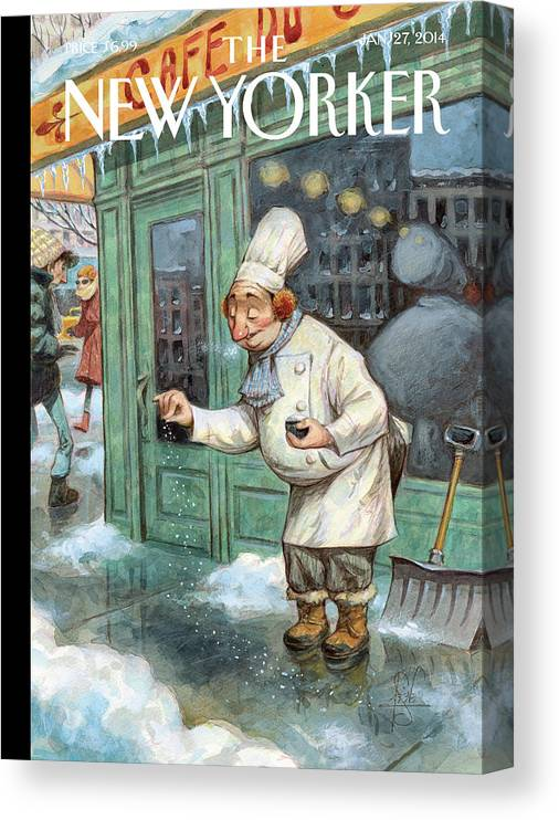 Cooking Canvas Print featuring the painting Just A Pinch by Peter de Seve