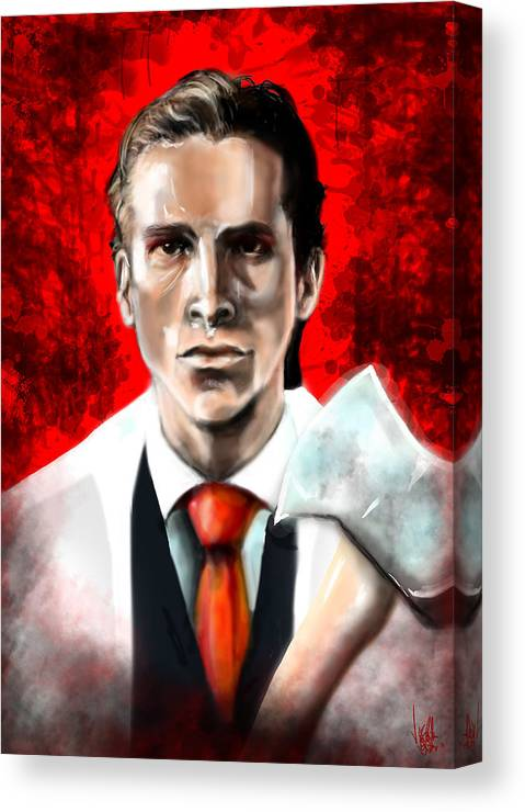 AMERICAN PSYCHO Movie Stretched Canvas Print ~ More Size