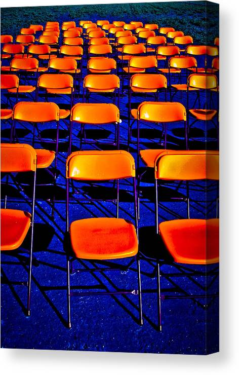 Chairs Canvas Print featuring the photograph Awaiting an Audience by Jim Painter