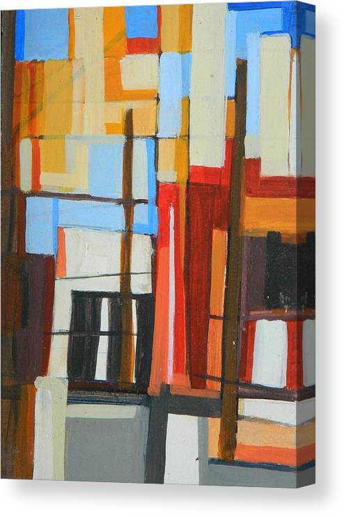 Brooklyn Canvas Print featuring the painting Brooklyn Abstract by Ron Erickson