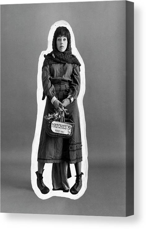 Actress Canvas Print featuring the photograph Carol Burnett Dressed As A Match-girl by Leonard Nones
