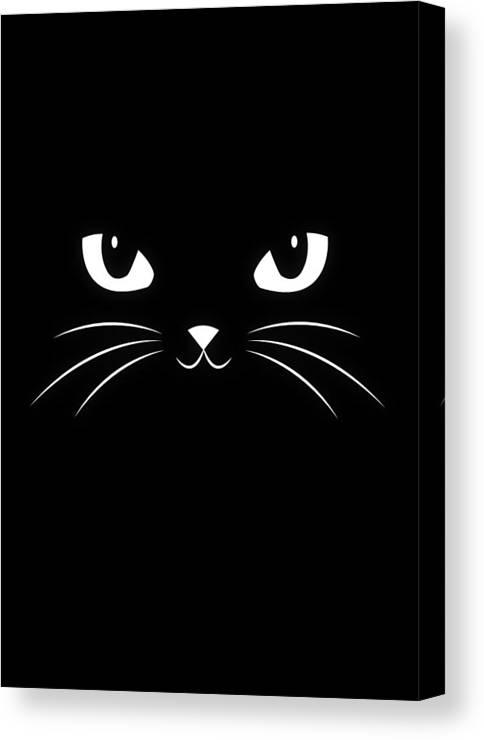Cute Black Cat Canvas Print Canvas Art By Philipp Rietz