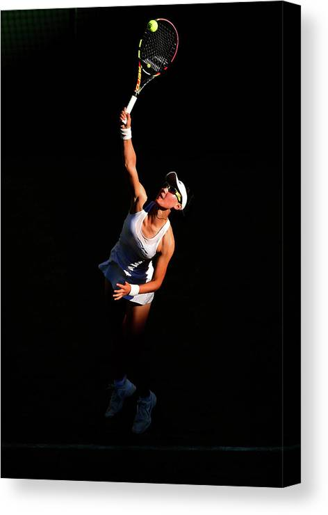 Zheng Saisai Canvas Print featuring the photograph Day Two The Championships - Wimbledon by Shaun Botterill