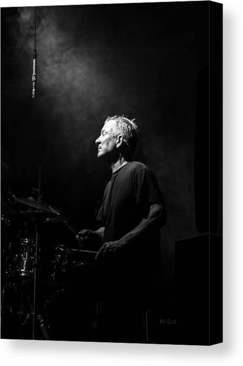 Drummer Canvas Print featuring the photograph Drummer Portrait of a Muscian by Bob Orsillo