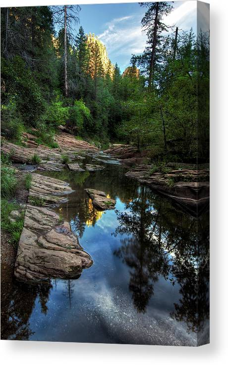Tranquility Canvas Print featuring the photograph Fall Is Right Around The Corner In by Image By Sean Foster