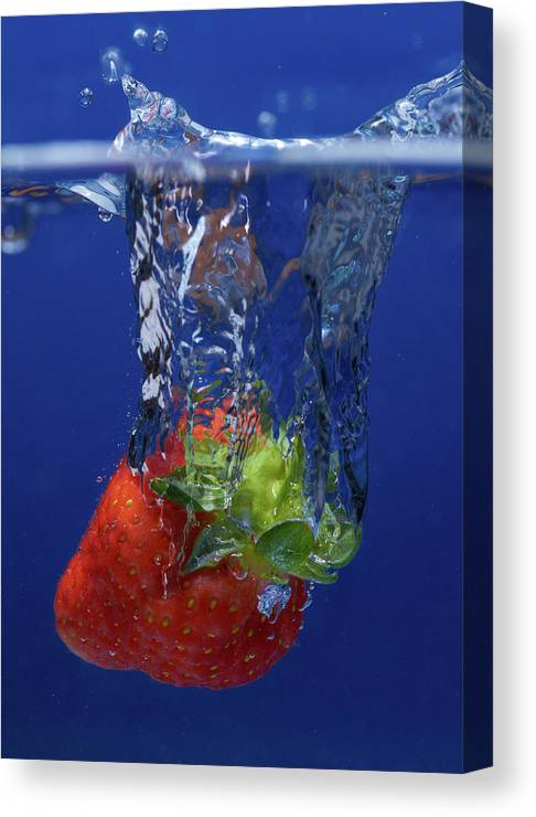 Motion Canvas Print featuring the photograph Fruit Splash Studio Shoot by Digital Camera Magazine