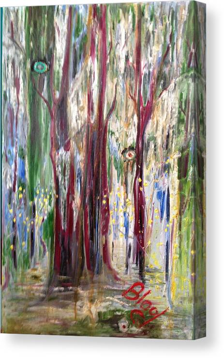Trees Canvas Print featuring the painting Georgia Marsh in March by Peggy Blood