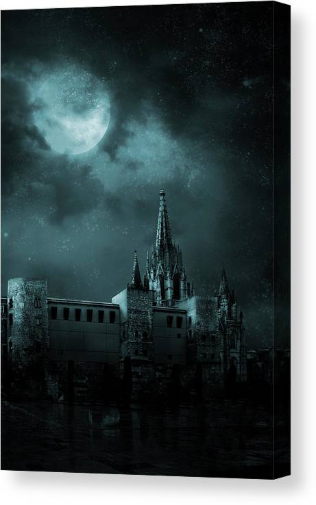 Gothic Style Canvas Print featuring the photograph Ghosts In The Empty Town by Vladgans