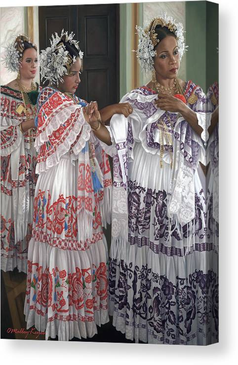 Hermandad De Pollera De Panama Canvas Print Canvas Art By Julia O Malley Keyes