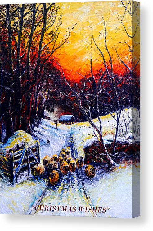 Homeward Bound Christmas Card Canvas Print Canvas Art By Andrew Read