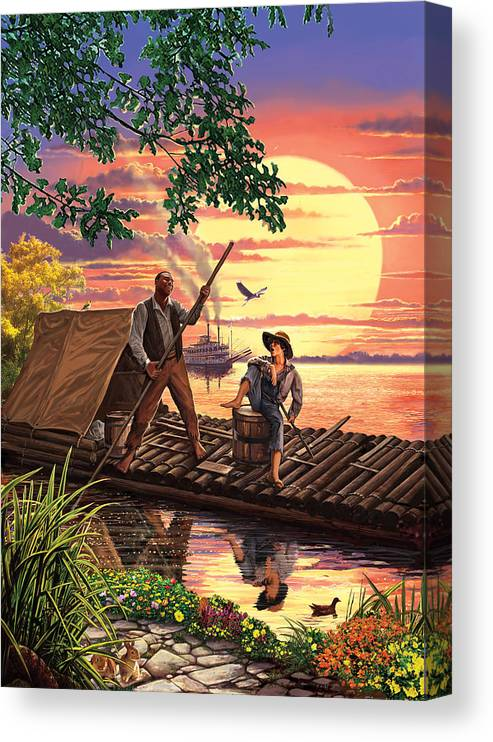 Steve Crisp Canvas Print featuring the photograph Huck Finn Variant 1 by MGL Meiklejohn Graphics Licensing