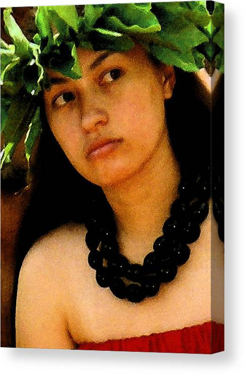 Hawaii Canvas Print featuring the photograph Kukui Nut Lei by James Temple