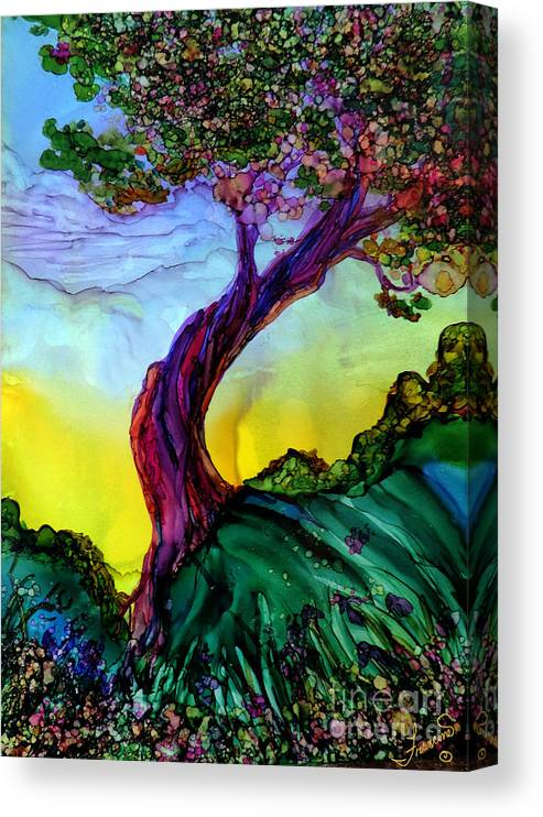 Landscape Canvas Print featuring the painting Life is Good by Francine Dufour Jones