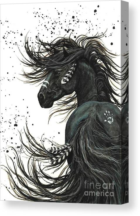 Mm65 Canvas Print featuring the painting Majestic Spirit Horse I by AmyLyn Bihrle