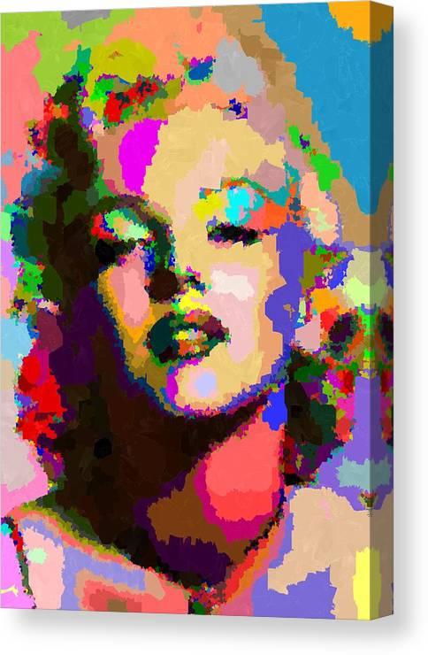 Marilyn Monroe - Abstract Canvas Print / Canvas Art By Samuel Majcen