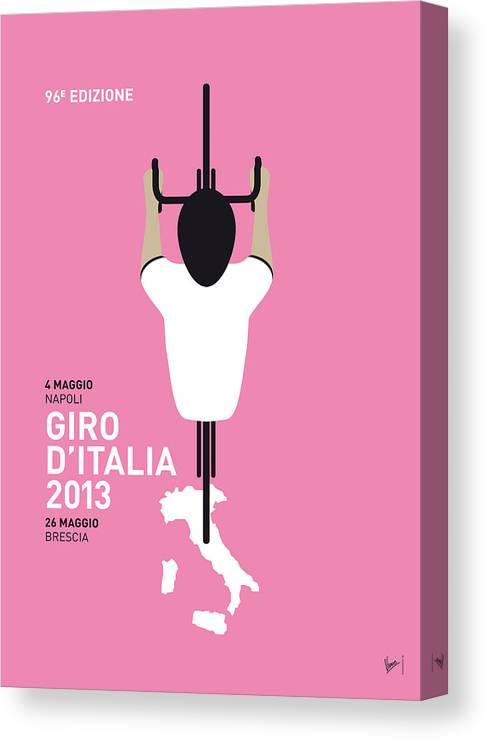 2013 Canvas Print featuring the digital art My Giro D'italia Minimal Poster by Chungkong Art