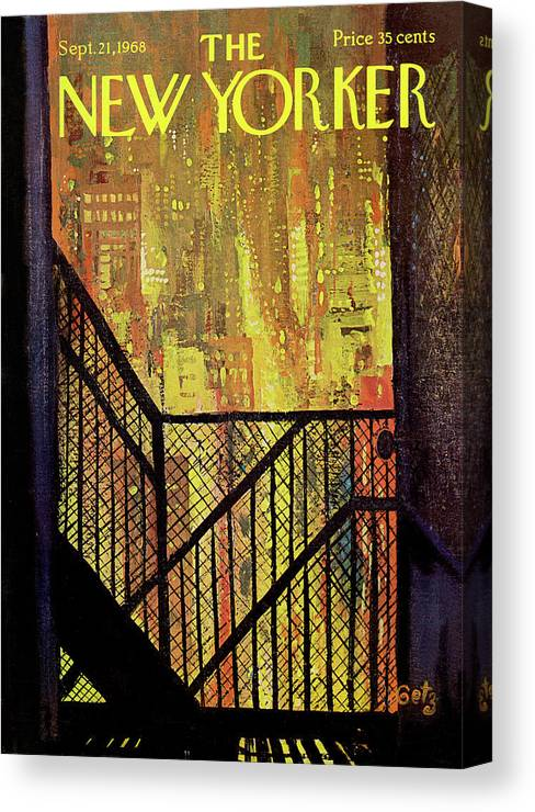 Arthur Getz Agt Canvas Print featuring the painting New Yorker September 21st, 1968 by Arthur Getz