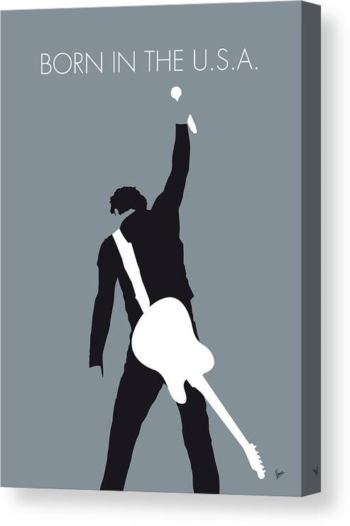 Bruce Canvas Print featuring the digital art No017 MY Bruce Springsteen Minimal Music poster by Chungkong Art