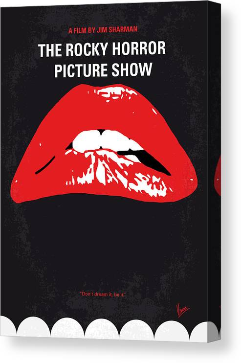 The Canvas Print featuring the digital art No153 My The Rocky Horror Picture Show minimal movie poster by Chungkong Art