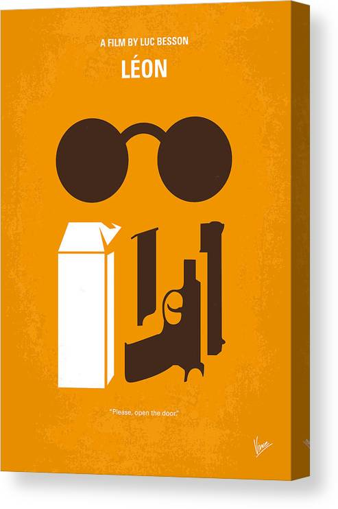 Leon Canvas Print featuring the digital art No239 My LEON minimal movie poster by Chungkong Art