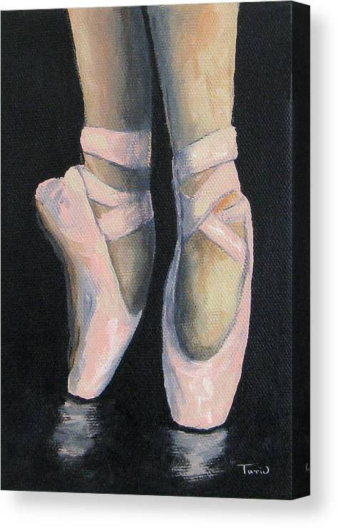 Ballet Canvas Print featuring the painting On Point IV by Torrie Smiley