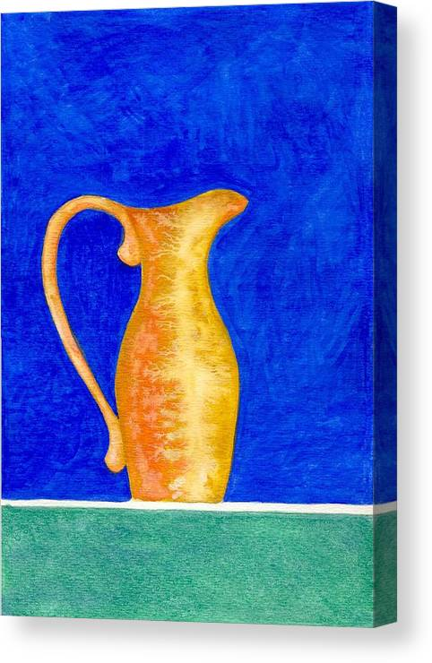 Still Life Canvas Print featuring the painting Pitcher 2 by Micah Guenther