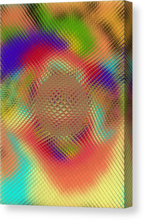 Abstract Canvas Print featuring the digital art Probing Orb by Pharris Art