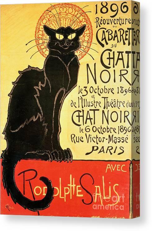 Le Chat Noir Cabaret Stretched Canvas Wall Art Poster Print Paris The Black Cat