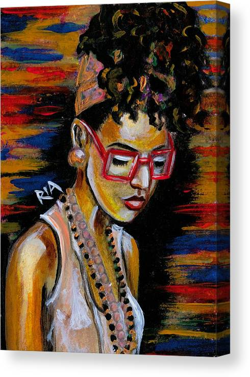Beautiful Canvas Print featuring the photograph Romy by Artist RiA