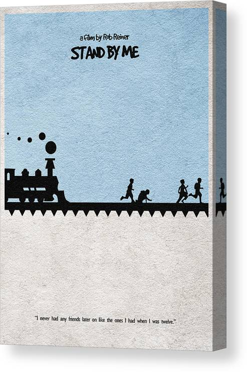 Stand By Me Canvas Print featuring the digital art Stand by Me by Inspirowl Design