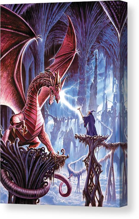Steve Crisp Canvas Print featuring the photograph The Dragons Lair by MGL Meiklejohn Graphics Licensing