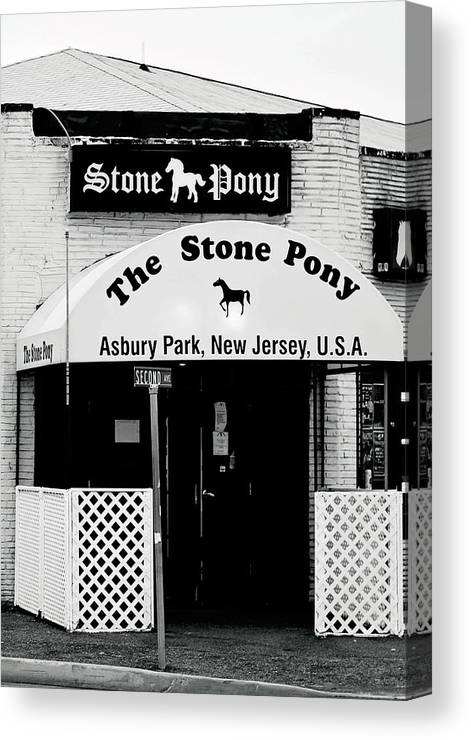 Stone Pony Canvas Print featuring the photograph The Stone Pony Asbury Park NJ by Terry DeLuco