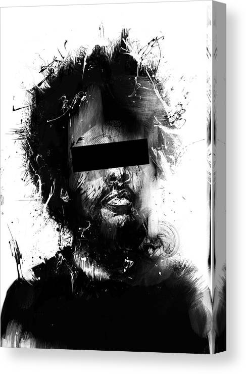 Man Canvas Print featuring the mixed media Untitled by Balazs Solti