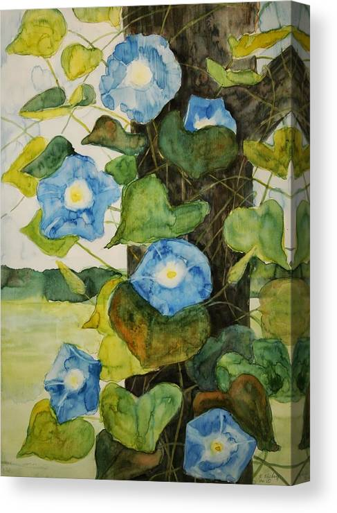 Canvas Print featuring the painting Vine by Helen Hickey