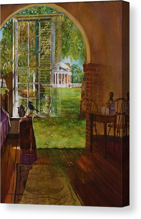 Reflections Canvas Print featuring the painting Iconic Reflections by Carolyn Epperly