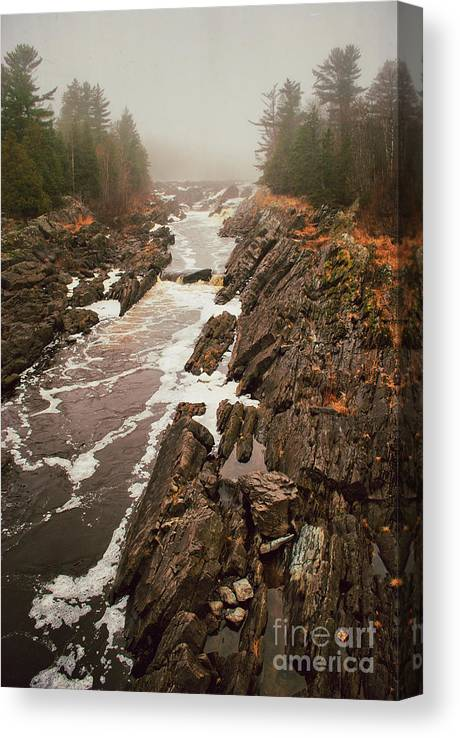 Jay Cooke Canvas Print featuring the photograph Jay Cooke Under Fog by Ever-Curious Photography