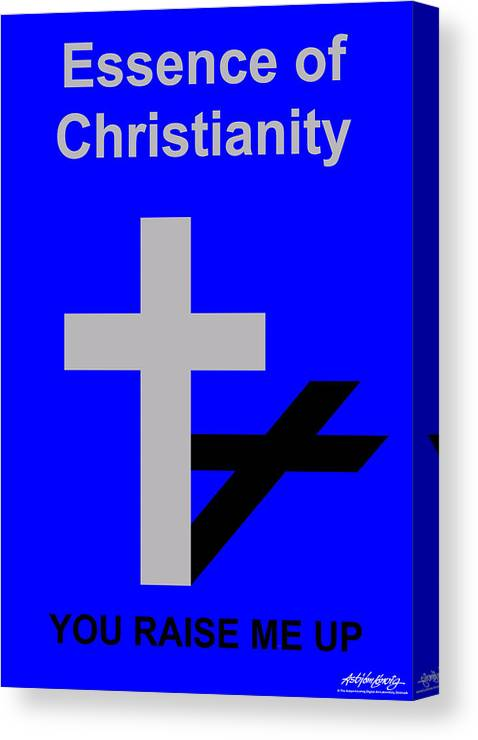 Christ Canvas Print featuring the digital art Essence of Christianity by Asbjorn Lonvig