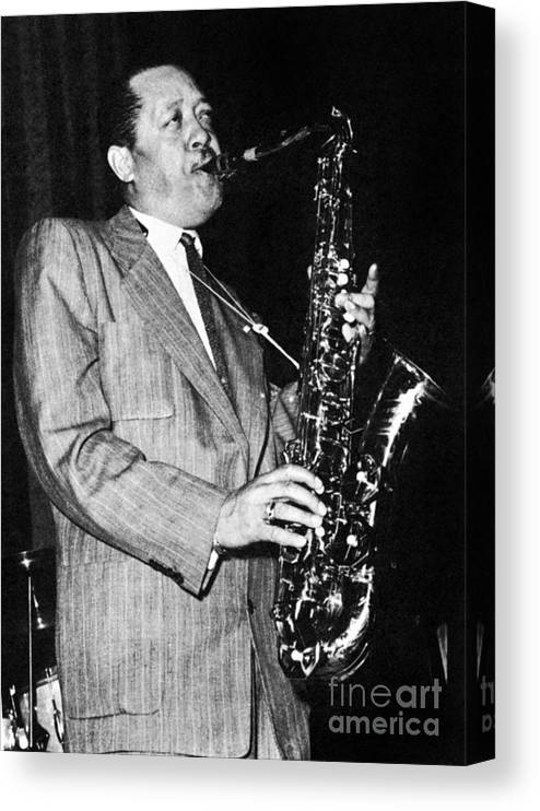 1950s Canvas Print featuring the photograph Lester Young by Granger