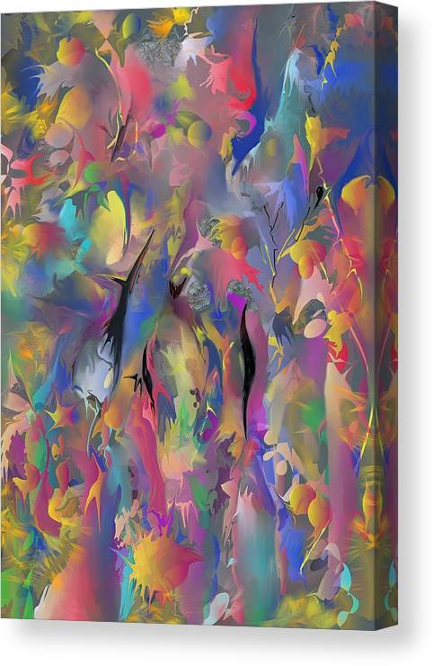 Abstract Canvas Print featuring the painting Optimism by Peter Shor