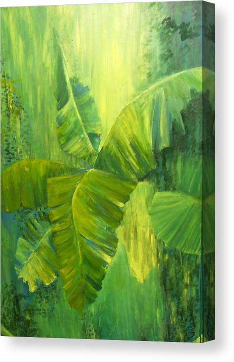 Rain Forest Nature Canvas Print featuring the painting Rain Forest by Carol P Kingsley