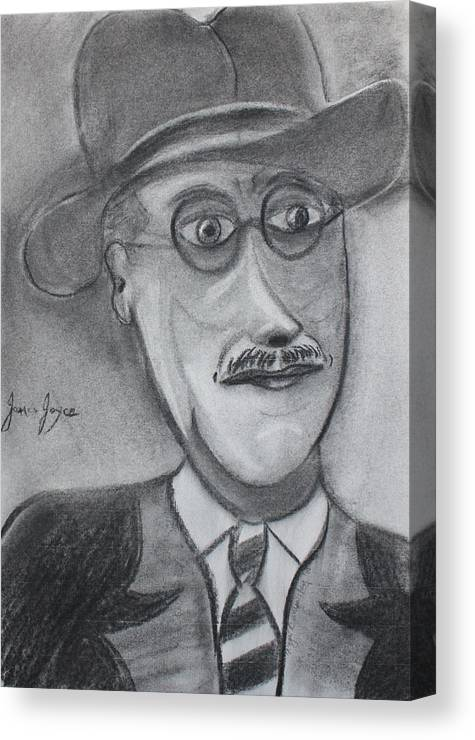 Art Canvas Print featuring the painting James Joyce by Roger Cummiskey