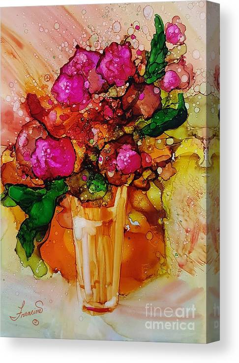 Bright Canvas Print featuring the mixed media Aaaah Spring by Francine Dufour Jones