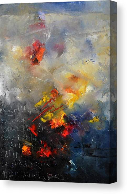 Abstract Canvas Print featuring the painting Abstract 0805 by Pol Ledent