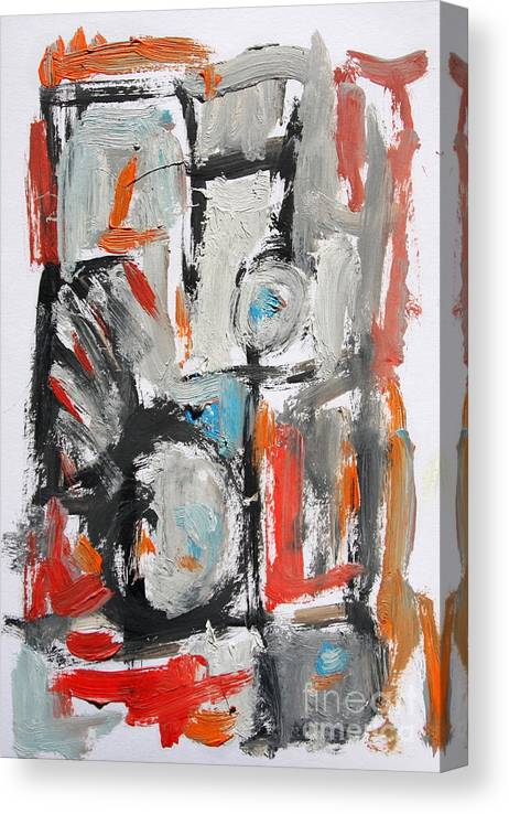 Abstract Canvas Print featuring the painting Abstract 6831 by Michael Henderson