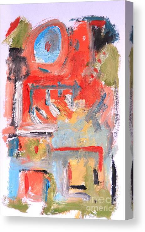 Abstract Canvas Print featuring the painting Abstract 7204 by Michael Henderson