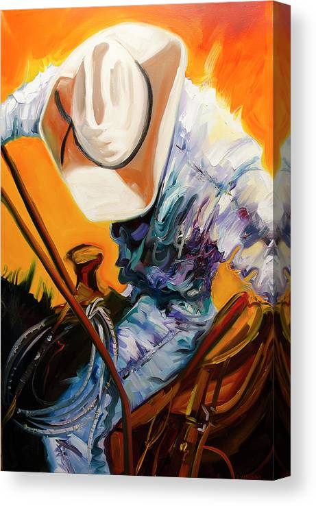 Rodeo Canvas Print featuring the painting Action Jackson by Diane Whitehead
